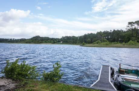 camping location mobil-home lac sanguinet