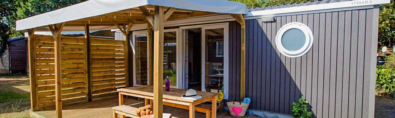 camping mobil-home famille landes