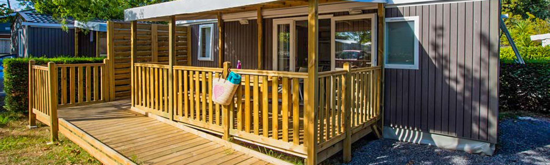 location mobil-home PMR camping landes