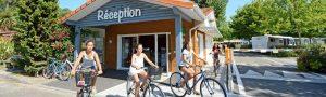 camping biscarrosse réception vélo