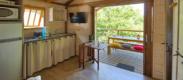 camping avec mobil-home avec grande terrasse a Biscarrosse