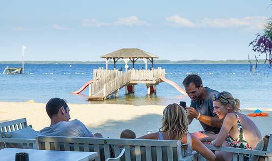 camping restaurant vue sur la mer Biscarrosse