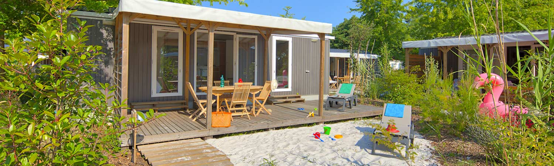 Camping avec mobil-home a Biscarrosse dans les Landes