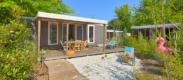camping avec mobil-home avec jardin a Biscarrosse