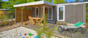 camping avec mobil-home avec jardin dans les Landes