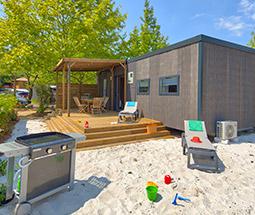 camping avec mobile home premium dans les landes