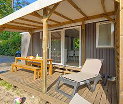 camping avec mobile home avec terrace dans les landes