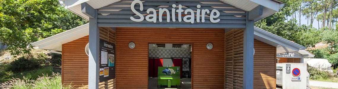 camping sanitaires biscarrosse