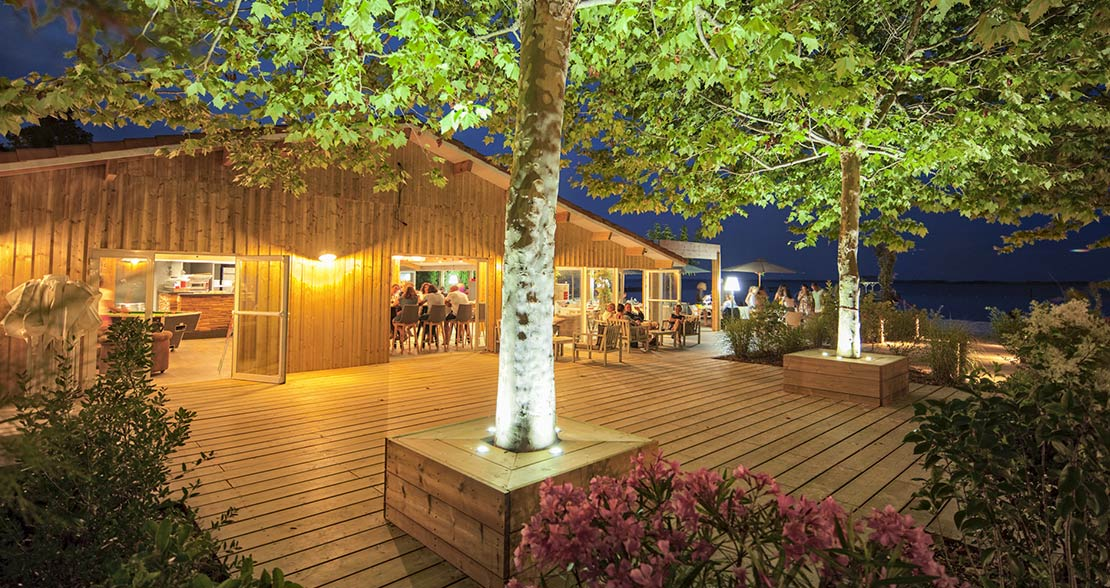 camping restaurant biscarrosse