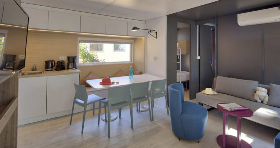 mobil-home luxe à biscarrosse