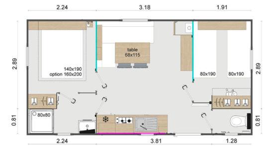 plan mobil-home biscarrosse