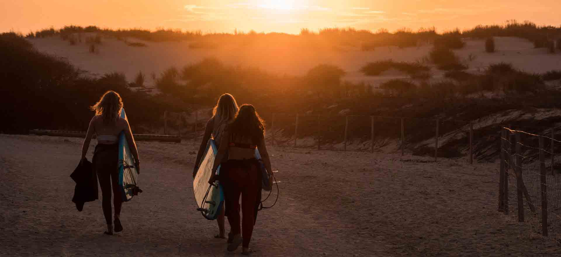 surfer au Vivier à Biscarrosse